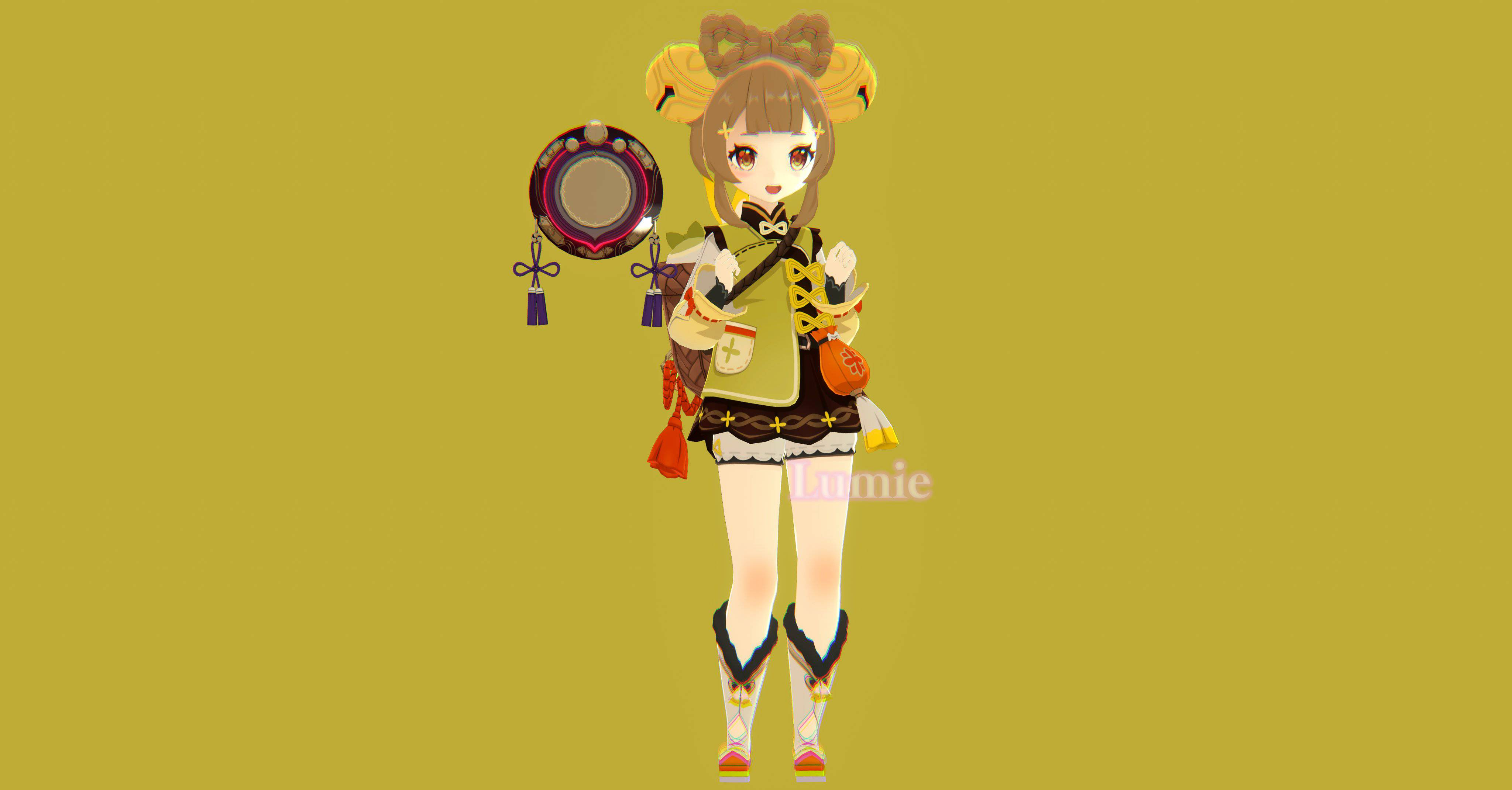 【原神】ヨォーヨちゃんの3Dモデルは可愛すぎるんだ・・