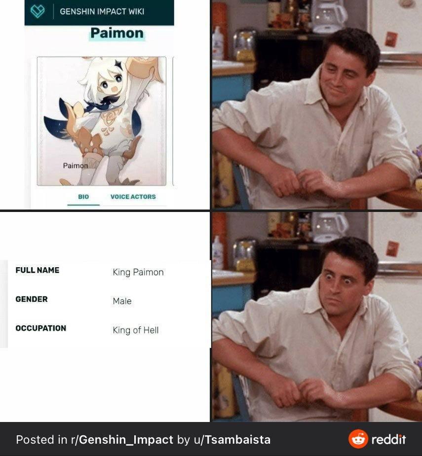 【ネタ】パイモンって性別公表されてんの?