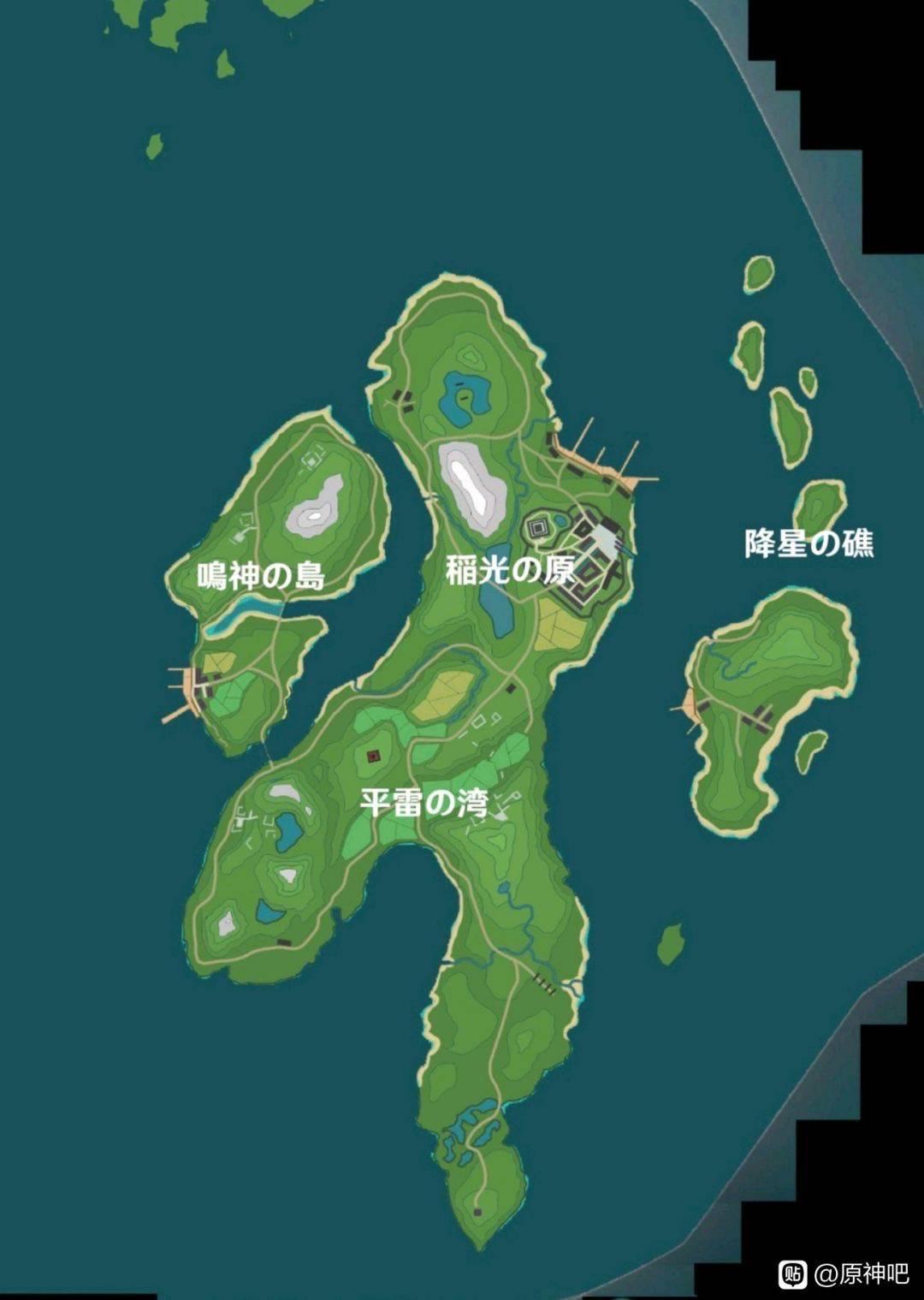【原神】日本モチーフの稲妻のマップがこれってマジ・・?