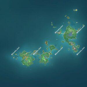 【原神】稲妻のマップがこれってマジ!? ← 相当広いんじゃないのか!?